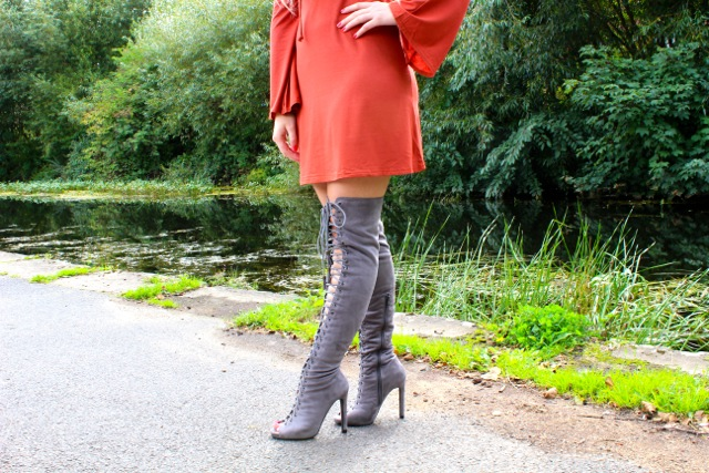 Boohoo Lace Up Erin Boots