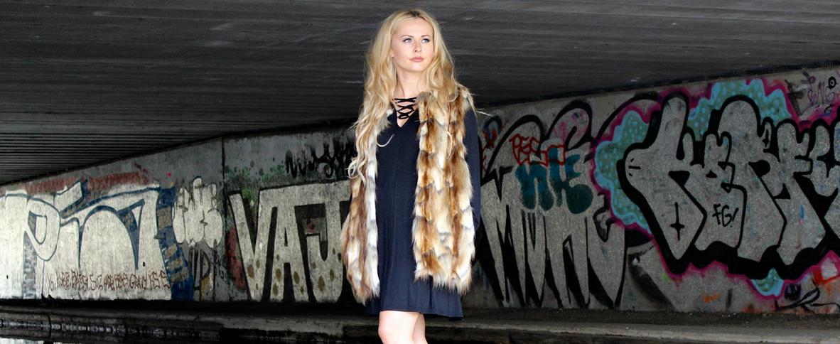 Lace Up & Faux Fur
