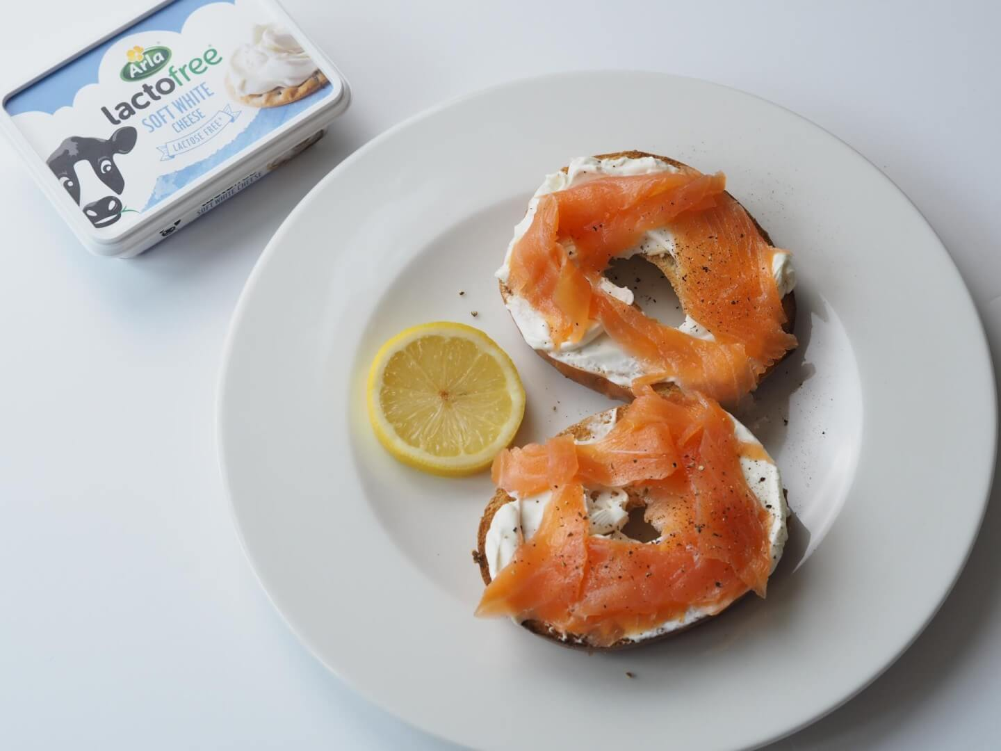 Arla Choose Goodness: Salmon & Cream Cheese Bagel - by lauren jane