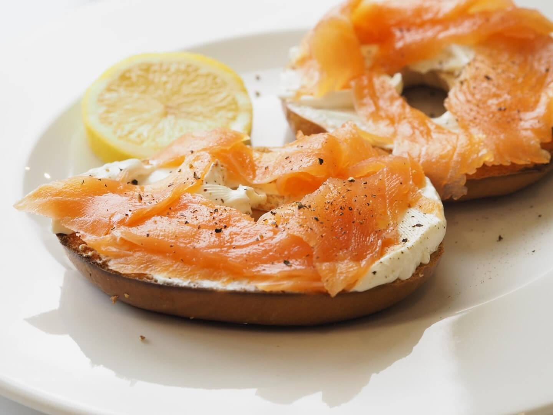 Salmon & Cream Cheese Bagel