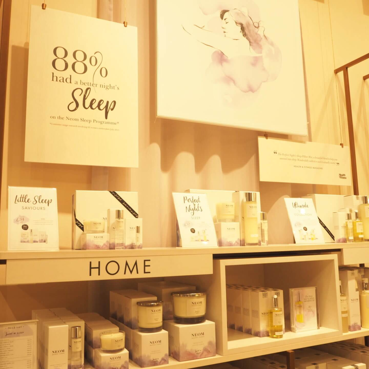 Sleep range from Neom, Leeds Store Victoria Gate