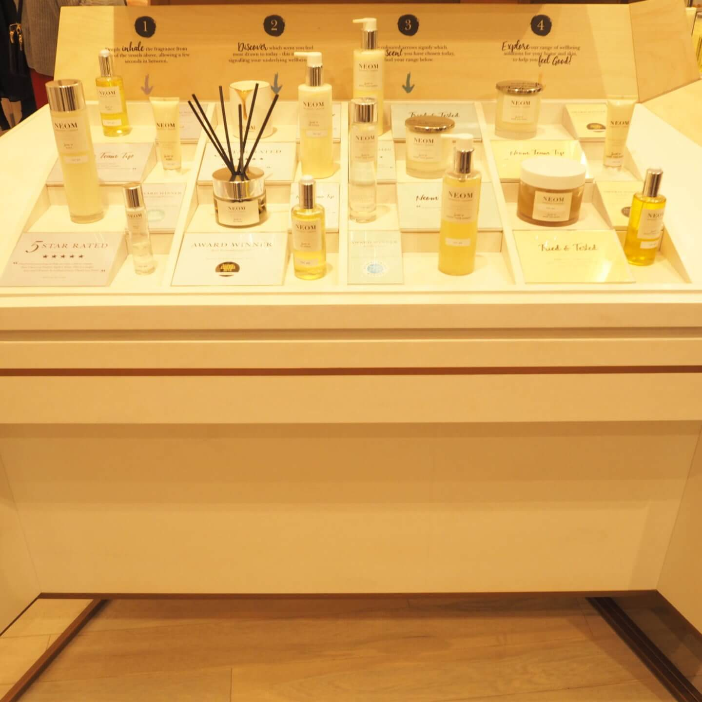 Neom Scent Discovery Bar Leeds Store Victoria Gate